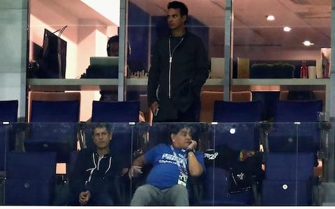 Maradona slumped in chair - Credit: GETTY IMAGES