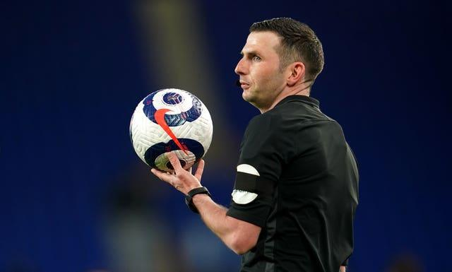 Michael Oliver was one of two English referees at Euro 2020