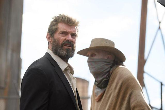 Logan (Hugh Jackman) and Caliban (Stephen Merchant) in <em>Logan</em>. (Photo: Ben Rothstein/Fox)
