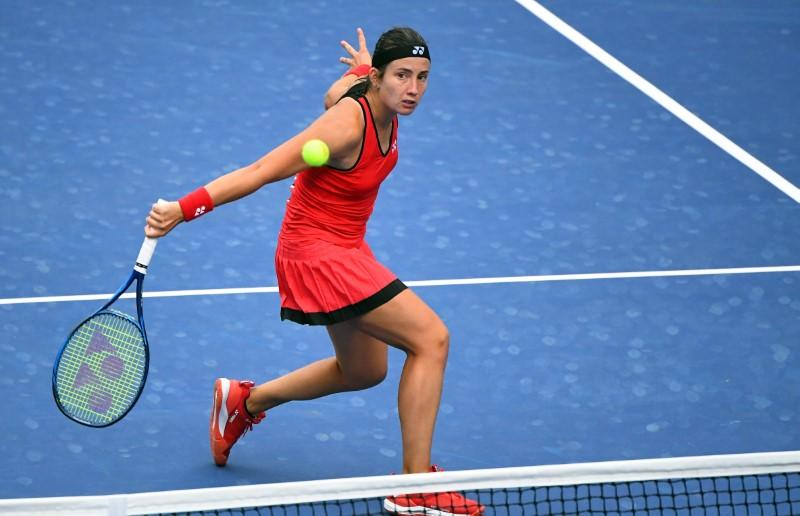 Sevastova picks up first win of year to send Gauff to exit