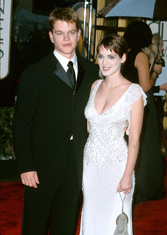 "Winona Ryder was synonymous with dating rockers until she hooked up with ""Good Will Hunting"" star Matt Damon in 1997 when mutual pal Gwyneth Paltrow introduced the two at a party. After three quiet years together, he moved on to ""All the Pretty Horses"" co-star Penelope Cruz ... and Ryder had that embarrassing shoplifting incident."