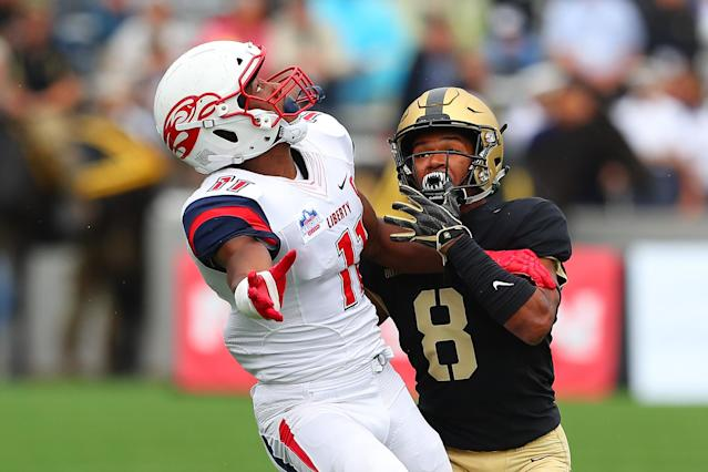 Liberty Flames WR Antonio Gandy-Golden is a top small-school NFL prospect. (Getty Images)