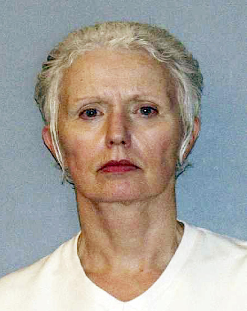 This undated file photo provided by the U.S. Marshals Service shows Catherine Greig, the longtime girlfriend of Whitey Bulger, captured with Bulger June 22, 2011, in Santa Monica, Calif.  Greig was by Bulger's side for more than three decades, first as a secret girlfriend he kept on the side while he lived with another woman, then as the faithful woman who left behind her life in Massachusetts so she could go on the run with him.  (AP Photo/U.S. Marshals Service, File)