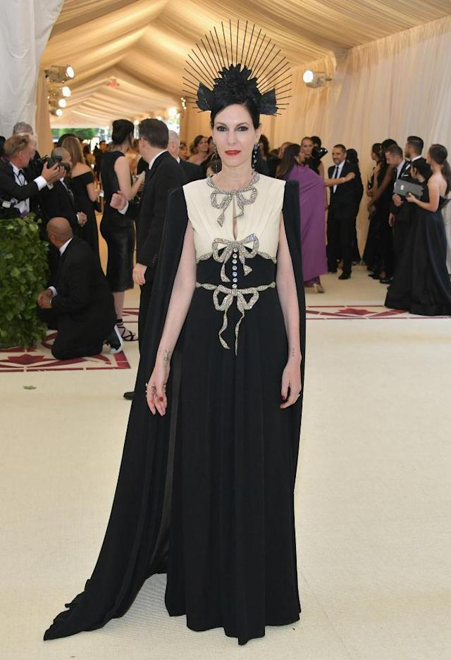 <p>Jill Kargman attends the Heavenly Bodies: Fashion & The Catholic Imagination Costume Institute Gala at The Metropolitan Museum of Art on May 7, 2018 in New York City. (Photo: Getty Images) </p>