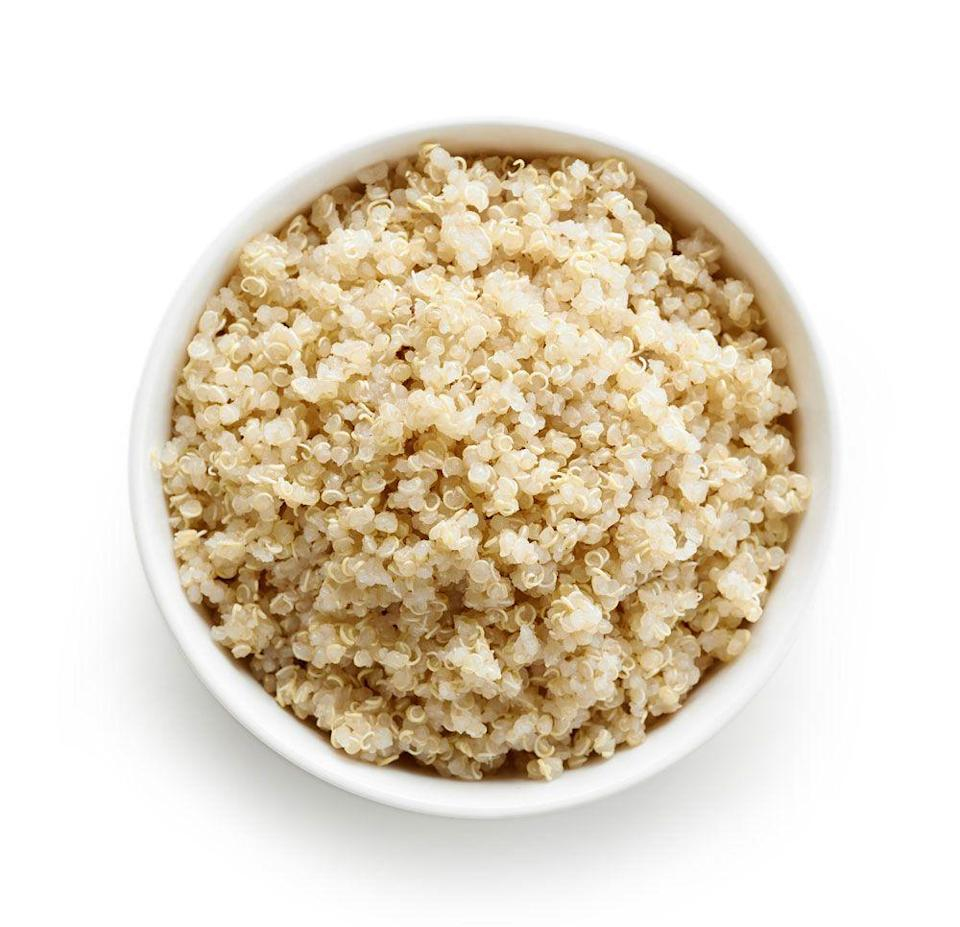 "<p>Need a hearty snack? Grab a quinoa bowl, eat some quinoa chips, enjoy a quinoa cookie—it was the new grain that made all snack foods seem way healthier. <a href=""https://www.womenshealthmag.com/food/a23570613/quinoa-health-benefits/"" rel=""nofollow noopener"" target=""_blank"" data-ylk=""slk:Here are 6 reasons you should start digging in if you haven't already."" class=""link rapid-noclick-resp"">Here are 6 reasons you should start digging in if you haven't already.</a></p>"