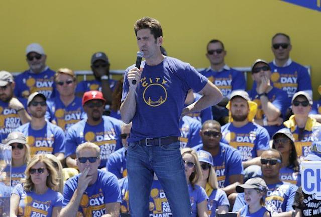 GM Bob Myers and the Warriors put their money where their mouth was. (AP)