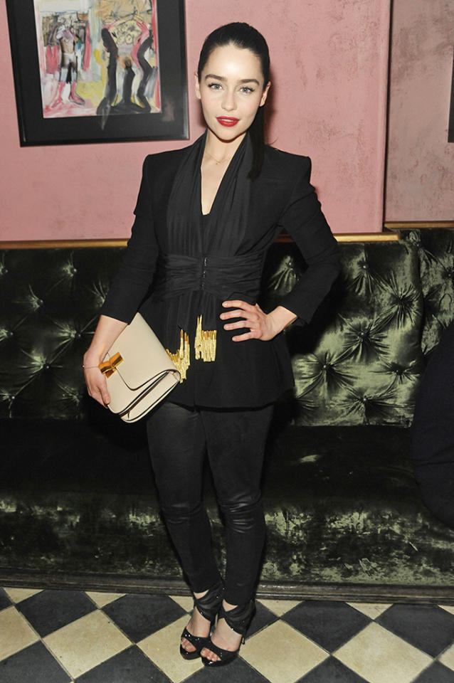 Emilia Clarke attends the Altuzarra After Party during Fall 2013 Mercedes-Benz Fashion Week at the Gramercy Park Hotel on February 9, 2013 in New York City.