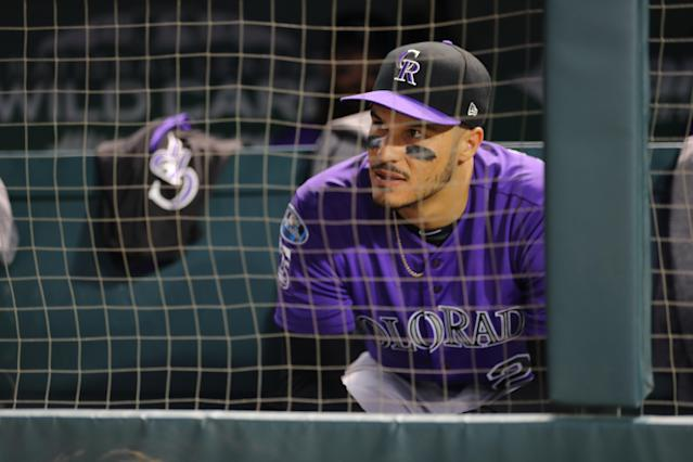 Nolan Arenado received a record $26 million in arbitration for the 2019 season. (Getty Images)