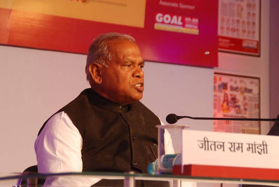 File image of former Bihar chief minister Jitan Ram Manjhi.  (Photo: Hindustan Times via Getty Images)