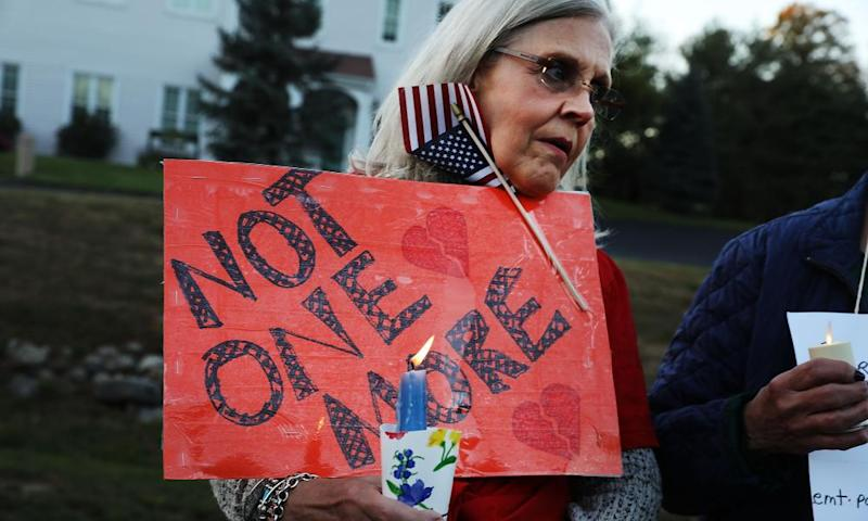 A vigil in Newtown, Connecticut, remembering the 58 people killed in Sunday's shooting in Las Vegas and calling for action on gun control.