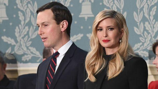 PHOTO: Ivanka Trump and husband Jared Kushner arrive to the State of the Union address at the U.S. Capitol in Washington, Feb. 5, 2019. (Saul Loeb/AFP/Getty Images)