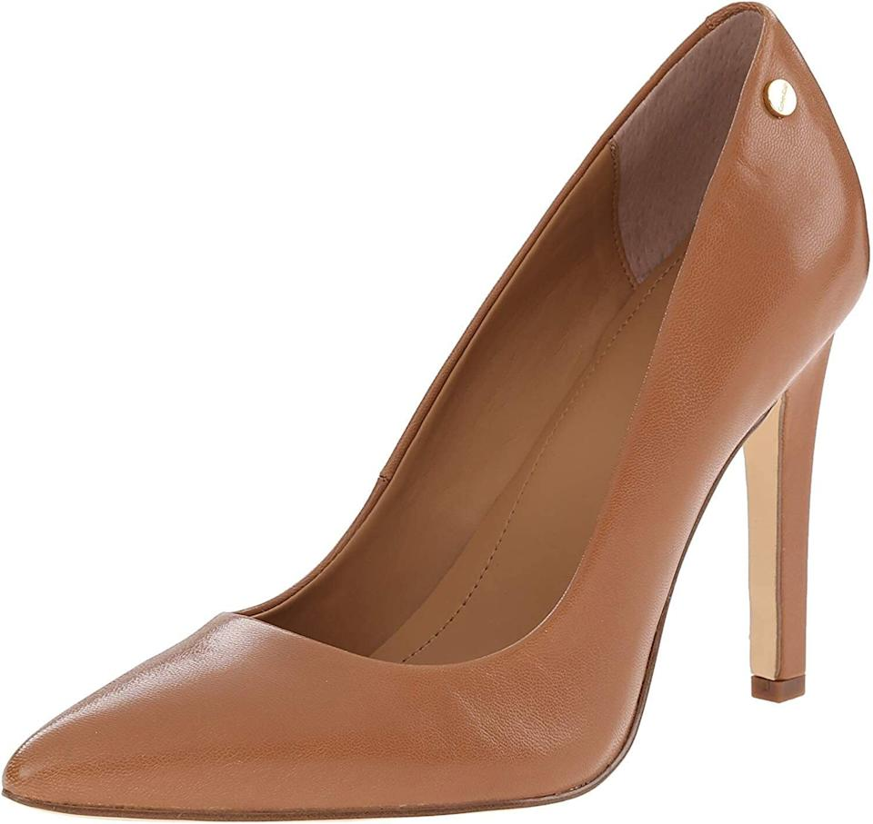 """Keep these in your closet for whenever you have a nice event. They have a cushioned foam insole that will ensure your feet won't hurt after wearing them only a few minutes.<br /><br /><strong>Promising review</strong>: """"These heels rock! They're so beautiful and very, very comfortable! I wore them all day (10-12 hours) and had no problems!!! They are so worth every penny. I will be ordering more."""" —<a href=""""https://amzn.to/3aiCmcX"""" target=""""_blank"""" rel=""""nofollow noopener noreferrer"""" data-skimlinks-tracking=""""5753950"""" data-vars-affiliate=""""Amazon"""" data-vars-href=""""https://www.amazon.com/gp/customer-reviews/R2G2K08FHG92L8?tag=bfabby-20&ascsubtag=5753950%2C13%2C30%2Cmobile_web%2C0%2C0%2C0"""" data-vars-keywords=""""cleaning,fast fashion"""" data-vars-link-id=""""0"""" data-vars-price="""""""" data-vars-retailers=""""Amazon"""">Kimberly Wormsley</a><br /><br /><strong>Get them from Amazon for<a href=""""https://amzn.to/3dnhD9S"""" target=""""_blank"""" rel=""""nofollow noopener noreferrer"""" data-skimlinks-tracking=""""5753950"""" data-vars-affiliate=""""Amazon"""" data-vars-asin=""""B07S38K9F5"""" data-vars-href=""""https://www.amazon.com/dp/B07S38K9F5?tag=bfabby-20&ascsubtag=5753950%2C13%2C30%2Cmobile_web%2C0%2C0%2C15975077"""" data-vars-keywords=""""cleaning,fast fashion"""" data-vars-link-id=""""15975077"""" data-vars-price="""""""" data-vars-product-id=""""16919073"""" data-vars-product-img=""""https://m.media-amazon.com/images/I/41KY-DxreTL.jpg"""" data-vars-product-title=""""Calvin Klein Women's Brady Pump"""" data-vars-retailers=""""Amazon"""">$57.20</a>(available in sizes 5-11 and in six colors).</strong>"""