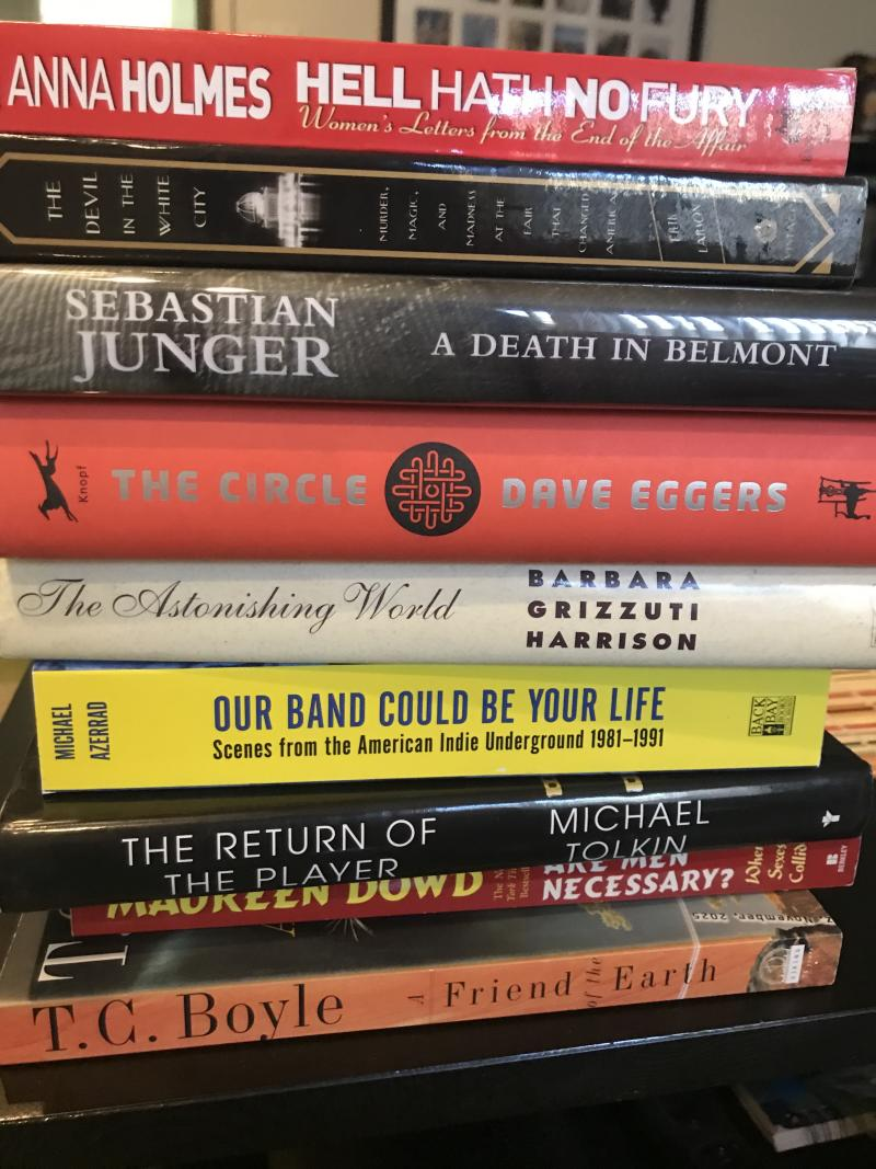 Raechal Shewfelt is getting her literary fix thanks to specially curated book deliveries. (Photo: Raechal Shewfelt)