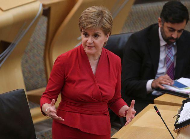 Nicola Sturgeon also outlined plans to establish a national care service to tackle the social care crisis. (Photo: Pool via Getty Images)