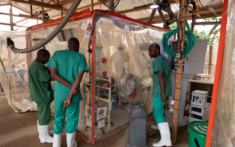 The biosecure Ebola isolation unit - or cube - has transformed treatment for the deadly disease - Simon Townsley