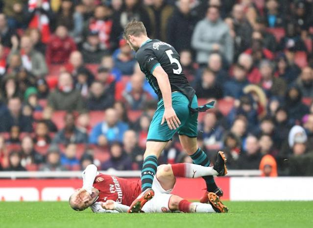 Arsenal's Jack Wilshere should have been sent off, says Southampton manager Mark Hughes