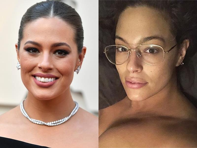 ashley graham makeup free
