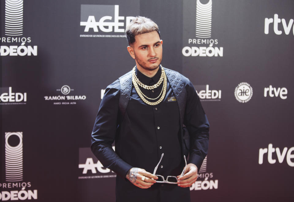 MADRID, SPAIN - JANUARY 20: Spanish singer Omar Montes attends the 1st Odeon Awards  at Teatro Real on January 20, 2020 in Madrid, Spain. (Photo by Javier Bragado/WireImage)