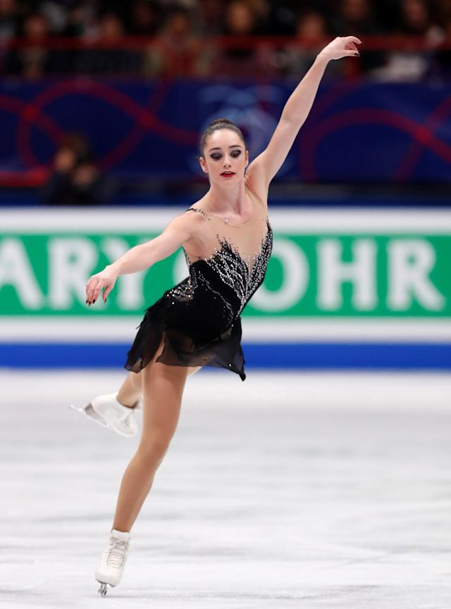 Figure Skating - World Figure Skating Championships - The Mediolanum Forum, Milan, Italy - March 23, 2018 Canada's Kaetlyn Osmond during the Ladies Free Skating REUTERS/Alessandro Garofalo