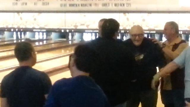 Man bowls a perfect game for the first time at age 81