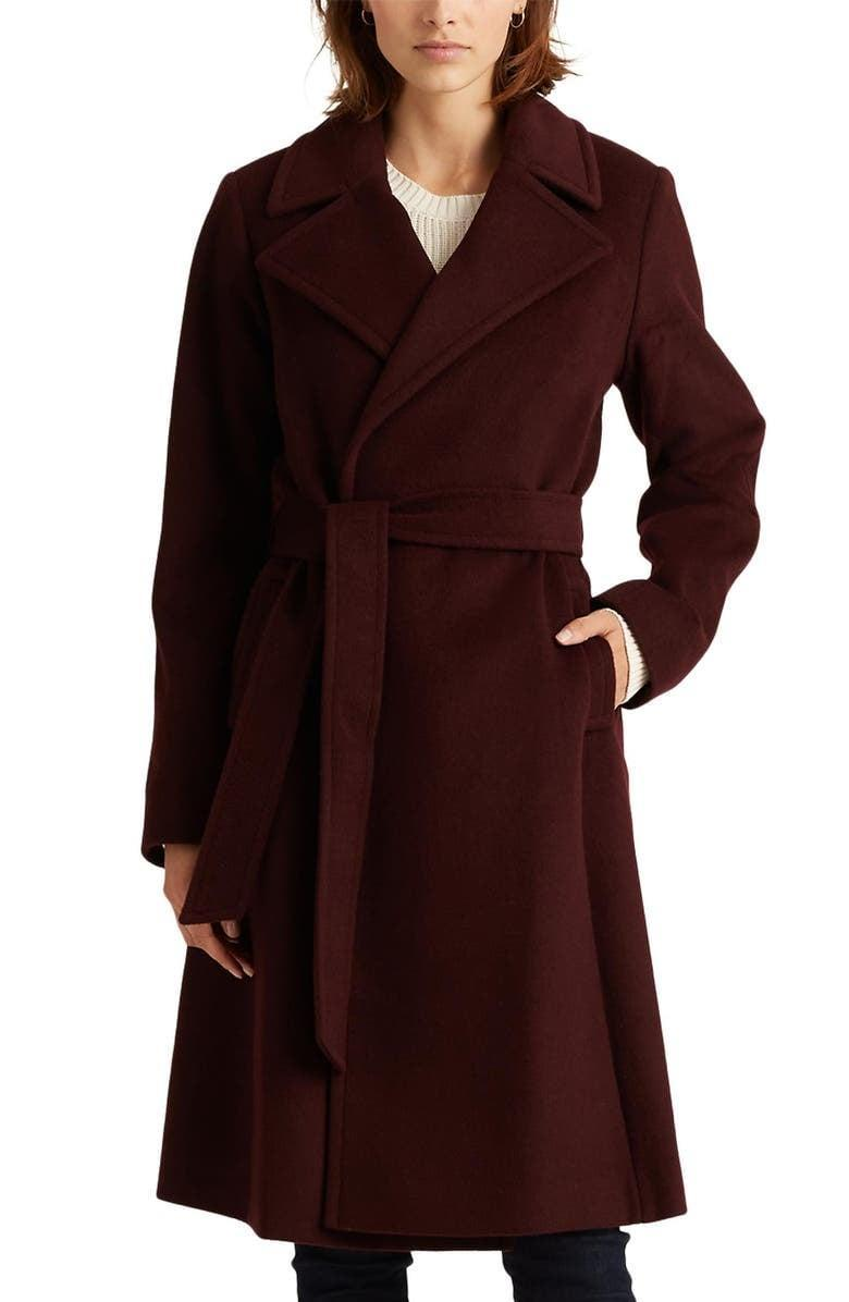 <p><span>Lauren Ralph Lauren Wool Blend Wrap Coat</span> ($215, originally $360)</p>