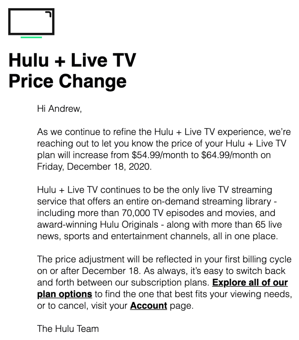 Hulu To Increase Live Tv Bundle By 10 A Month