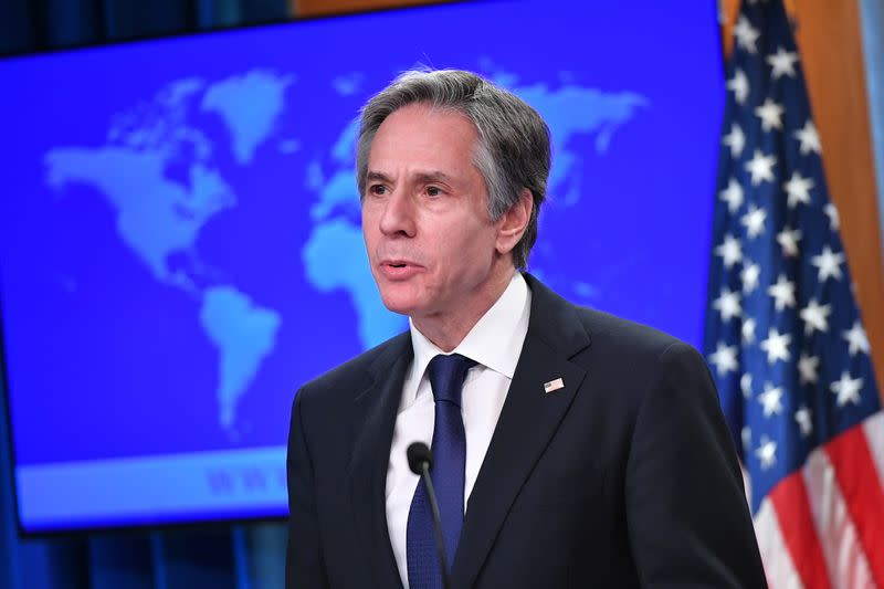 """""""2020 Country Reports on Human Rights Practices"""" release at the State Department in Washington"""