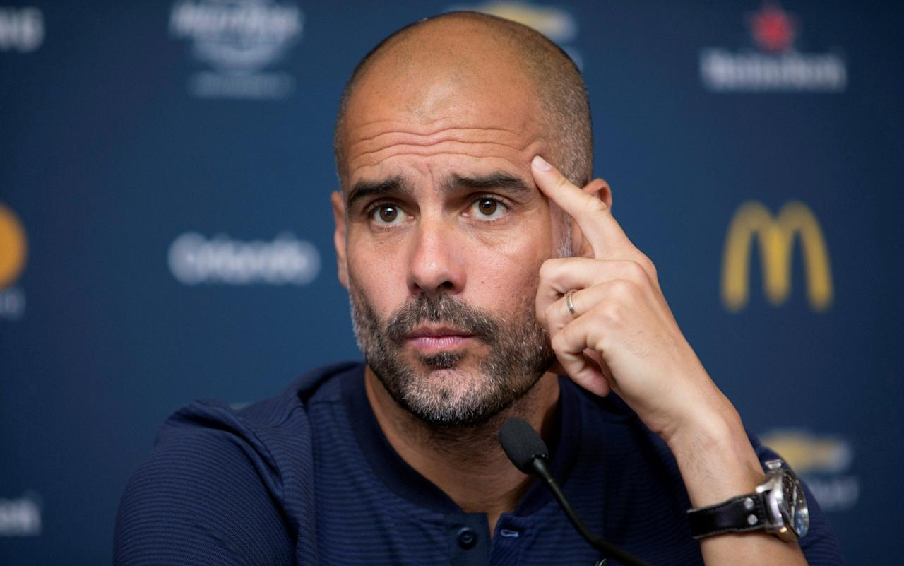 """Pep Guardiola has hit back at claims by Gary Neville that Manchester City's highly rated teenage midfielder Phil Foden is at """"the wrong Manchester club"""". Foden earned a glowing appraisal from Guardiola after the 17-year-old's impressive showing in City's 2-0 defeat by Manchester United in Houston last week. Phil Foden made a big impression in Man City's 2-0 defeat to Man Utd Credit: Getty Images The City manager described Foden as a """"gift"""" but former United captain Neville reacted by tweeting that the youngster was """"at the wrong Manchester club for getting a sustained opportunity"""" and added that """"City have a lot of great kids. They should be playing…"""" Guardiola has spent £217 million so far this summer but remains in the market for a centre half and a forward, with the manager chasing Arsenal's Alexis Sanchez and refusing to rule out of a move for Kylian Mbappe even if Real Madrid are the firm favourites to sign the France striker should he leave Monaco this summer. He's at the wrong Manchester club for getting a sustained opportunity. City have a lot of great kids. They should be playing... https://t.co/KgN9xUHclY— Gary Neville (@GNev2) 23 July 2017  However, Monaco vice-president Vadim Vasilyev said on Wednesday that the French champions were in talks over a contract extension for Mbappe and """"hope to reach an agreement"""". City have had a poor record of blooding youth during Sheikh Mansour's nine-year ownership of the club and the £44 million signing of Bernardo Silva this summer placed another obstacle in Foden's path. But Guardiola claimed if the players are good enough he will play them regardless of their age.  Pep Guardiola speaks at a press conference in Houston, USA. Credit: Reuters """"Which is the right club? It's a question to Gary Neville,"""" Guardiola said. """"My history is there. I'm not going to put young players in the squad because they are young. They will be in the squad because they have quality. I don't have problems with that. """"The club is working well"""