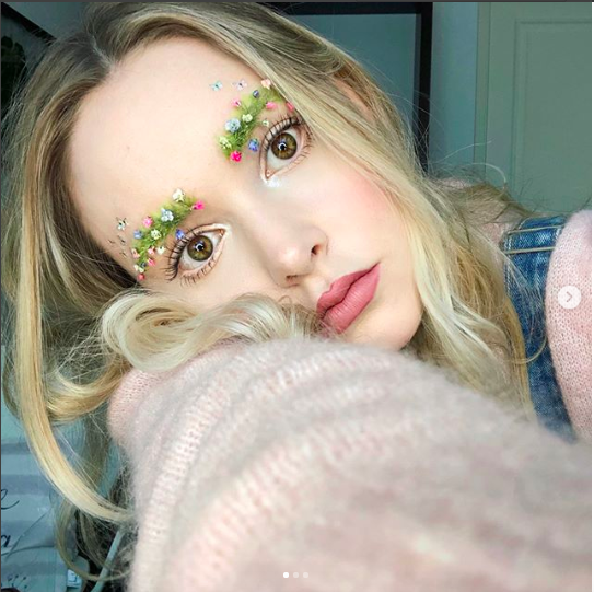 """<p>Looking to channel your inner flower child? Why stop at a flower crown? This year showed that you can bring spring alive on your face as well!<br />Photograph: <a rel=""""nofollow"""" href=""""https://www.instagram.com/p/BgOTmrgDLV_/"""">taytay_xx/Instagram</a> </p>"""