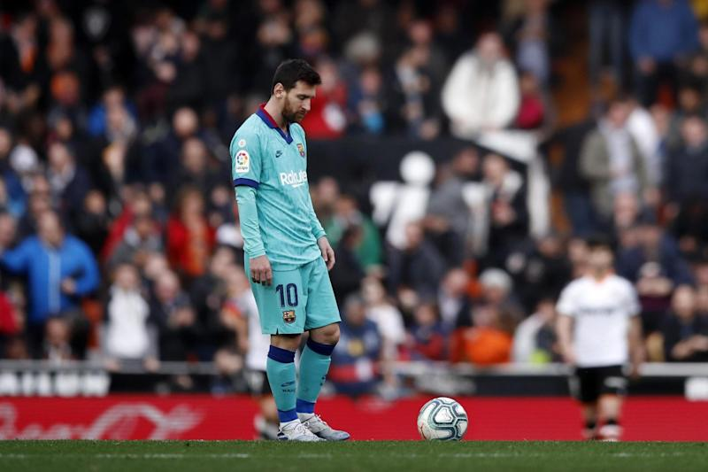 Lionel Messi was heavily involved against Valencia, but could not score (Getty Images)