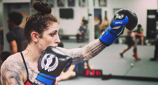 Megan Anderson, the Invicta FC featherweight champion, makes her UFC debut Saturday against Holly Holm. (Instagram/megana_mma)
