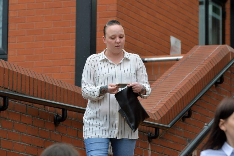 A father and daughter have been found guilty of killing their neighbour after she burst a football they kicked over her fence.