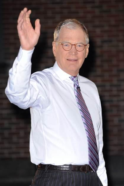 Host David Letterman films a segment outside the 'Late Show With David Letterman' taping at the Ed Sullivan Theater on January 31, 2012 -- Getty Images