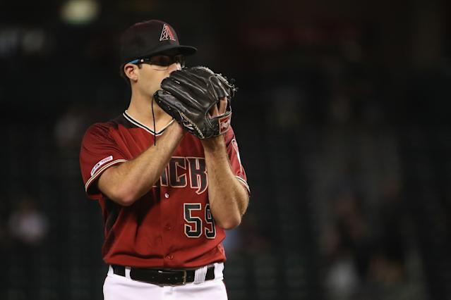 """Why is <a class=""""link rapid-noclick-resp"""" href=""""/mlb/players/11116/"""" data-ylk=""""slk:Zac Gallen"""">Zac Gallen</a> not rostered in every fantasy league? (Photo by Christian Petersen/Getty Images)"""