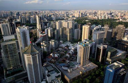 FILE PHOTO: A view of Singapore's skyline