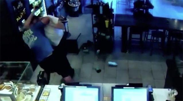 The two begin to wrestle. Source: Fresno Police