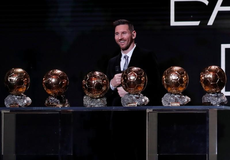 Messi claims record sixth Ballon d'Or, Rapinoe wins women's award