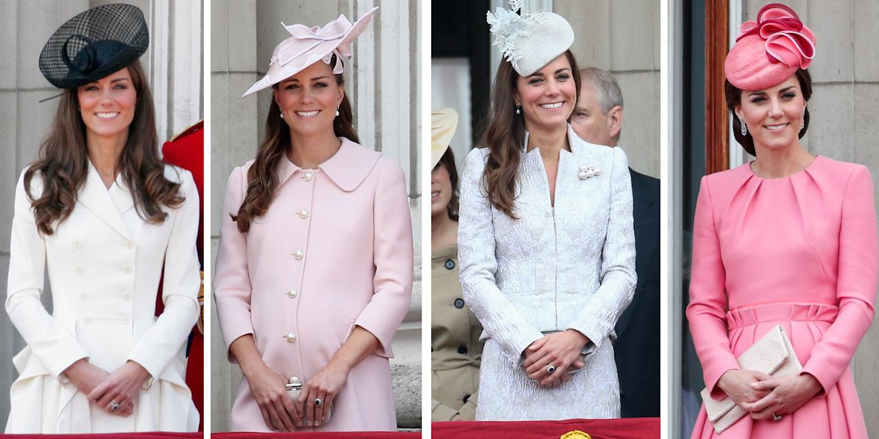 "<p>Kate Middleton has been a very fashionable fixture at the <a href=""https://www.cosmopolitan.com/uk/fashion/celebrity/a27833719/kate-middleton-trooping-the-colour-2019/"" target=""_blank"">Trooping the Colour </a>- the official celebration of the Queen's birthday - since her and Prince William got married in 2011. Every year since then, we've watched the Duchess in the carriage with Camilla as she arrives at Buckingham Palace wearing numerous chic and sophisticated outfits.</p><p>Click through the gallery to see how Kate's look has transformed since her first Trooping the Colour in 2011, to now...</p>"