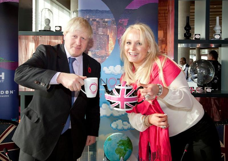 Jennifer Arcuri pictured with now-Prime Minister Boris Johnson. (Photo: HuffPost UK)