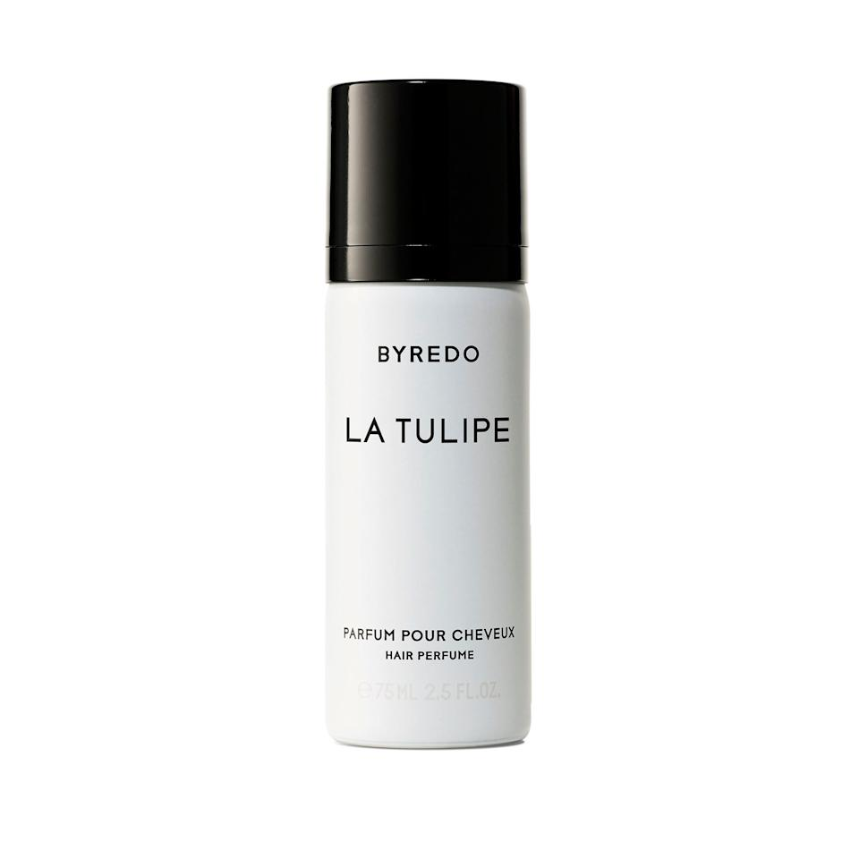 """<p>The truly sexy people out there have known for years that a whiff of fragrance spritzed into the hair leaves an indelible impression. Byredo's La Tulipe Hair Perfume uses the sweet-smelling tulip to leave your hair smelling fresh for the day.</p> <p><strong>$75</strong> (<a href=""""https://click.linksynergy.com/deeplink?id=MZ9491VLjxM&mid=1237&u1=alluremichelleholidaygg&murl=https://shop.nordstrom.com/s/byredo-la-tulipe-hair-perfume/4770926/lite"""" rel=""""nofollow"""">Shop Now</a>)</p>"""