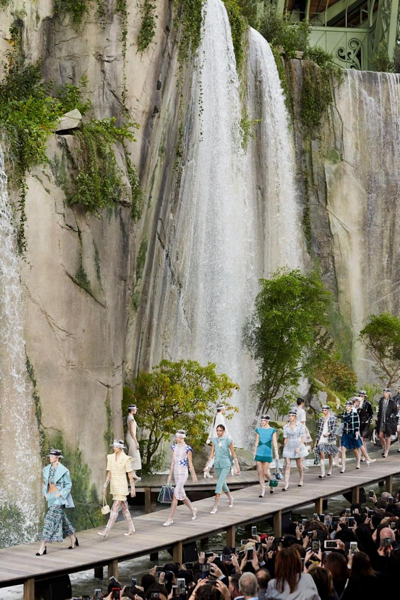 The models walked in front of the most beautiful backdrop. Photo: Chanel