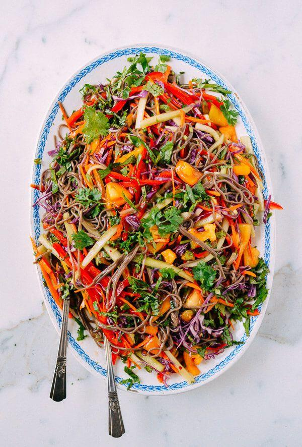 """<strong>Get the <a href=""""http://thewoksoflife.com/2015/10/rainbow-noodle-salad/"""" target=""""_blank"""">Rainbow Noodle Salad recipe</a>&nbsp;from&nbsp;The Woks Of Life</strong>"""