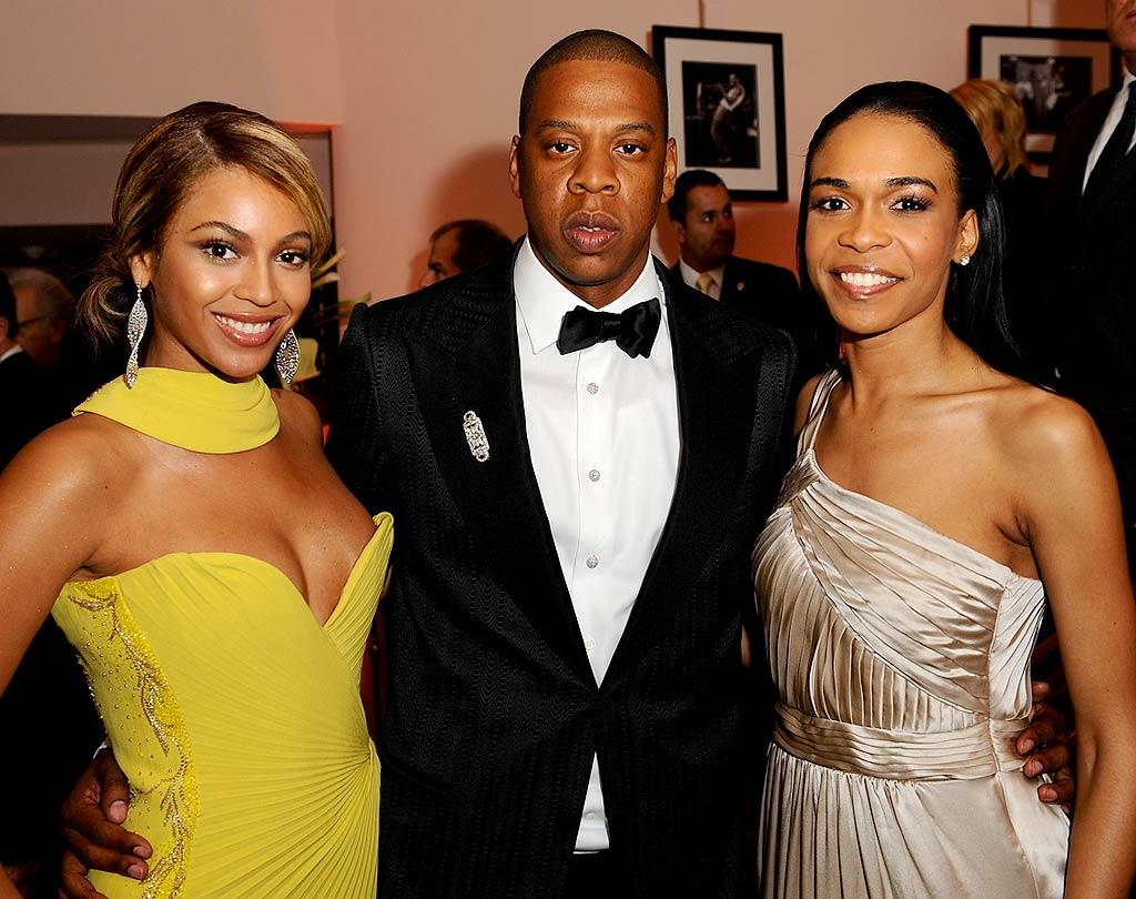 """Beyonce Knowles traded her ice skater gown for this far more flattering frock at the Sony/BMG After Party in Beverly Hills. Although she failed to win a Grammy this year, she fulfilled a lifelong dream of performing with Tina Turner. Afterwards she celebrated with beau Jay-Z and Destiny's Child bandmate Michelle Williams. Michael Caulfield/<a href=""""http://www.wireimage.com"""" target=""""new"""">WireImage.com</a> - February 10, 2008"""