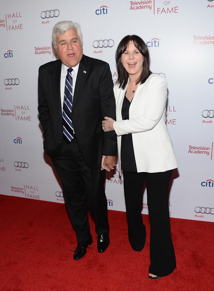 BEVERLY HILLS, CA - MARCH 11: Comedian Jay Leno and Mavis Leno attend The Television Academy's 23rd Hall Of Fame Induction Gala at Regent Beverly Wilshire Hotel on March 11, 2014 in Beverly Hills, California. (Photo by Jason Kempin/Getty Images)