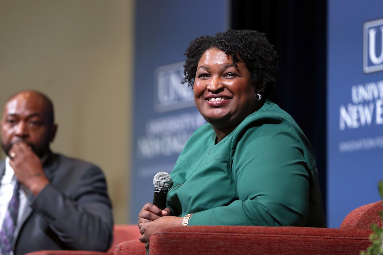 Former Georgia gubernatorial candidate Stacey Abrams. (Ben McCanna/Portland Press Herald via Getty Images)
