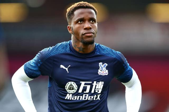 Wilfried Zaha, pictured, is an injury doubt for Crystal Palace (Michael Steele/NMC Pool)