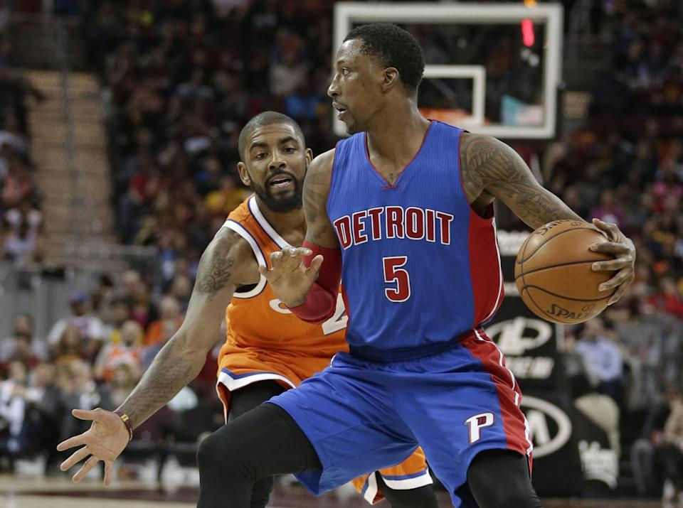 The Pistons are in a tough spot with restricted free agent Kentavious Caldwell-Pope. (AP)