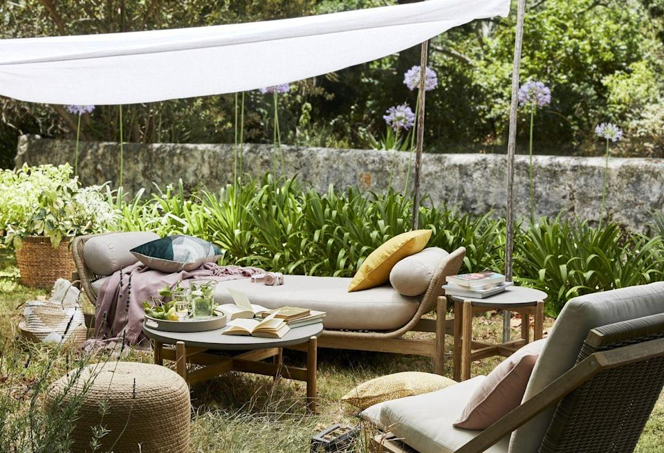 """<p>Spring into summer with a relaxing garden lounger. Simply add some soft cushions and you'll have your own outdoor haven. </p><p>""""Whether you have a sprawling garden or city terrace you can achieve a country garden look by incorporating some wicker elements, plant ladders and country style pots,"""" say John Lewis. </p><p><a class=""""link rapid-noclick-resp"""" href=""""https://go.redirectingat.com?id=127X1599956&url=https%3A%2F%2Fwww.johnlewis.com%2Fbrowse%2Ffurniture-lights%2Fgarden%2Fgarden-seating%2F_%2FN-5up0&sref=https%3A%2F%2Fwww.countryliving.com%2Fuk%2Fhomes-interiors%2Fgardens%2Fg35933581%2Fjohn-lewis-garden-collection-spring-summer%2F"""" rel=""""nofollow noopener"""" target=""""_blank"""" data-ylk=""""slk:SHOP NOW"""">SHOP NOW</a></p>"""