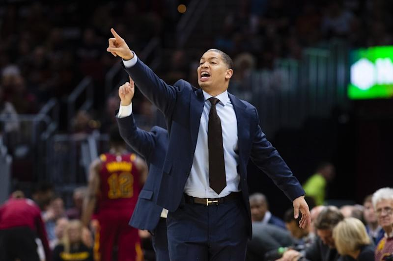 CLEVELAND, OH - OCTOBER 27: Head coach Tyronn Lue of the Cleveland Cavaliers yells to his team during the first half against the Indiana Pacers at Quicken Loans Arena on October 27, 2018 in Cleveland, Ohio. NOTE TO USER: User expressly acknowledges and agrees that, by downloading and/or using this photograph, user is consenting to the terms and conditions of the Getty Images License Agreement. (Photo by Jason Miller/Getty Images)