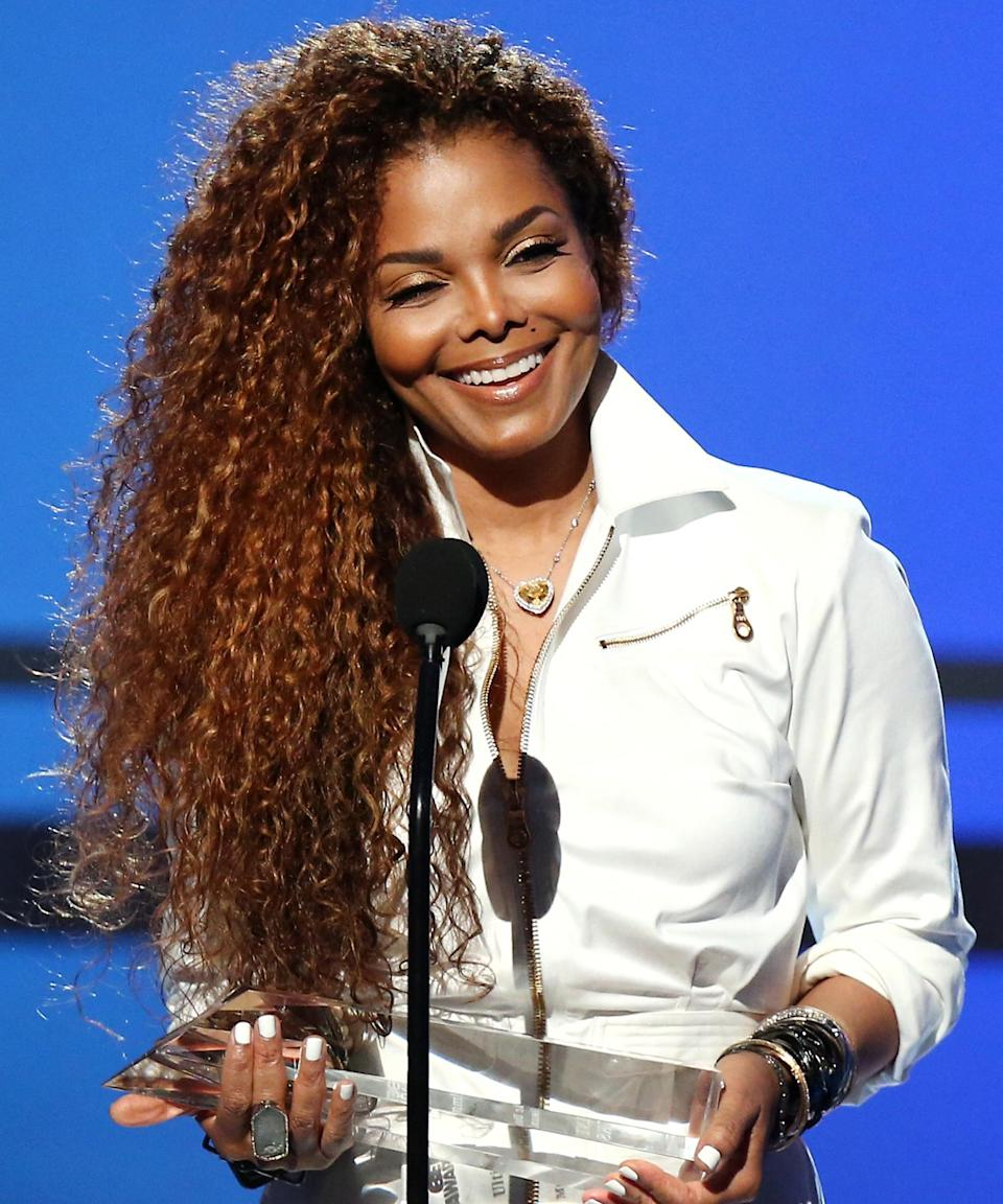 """<strong><h2>Janet Jackson</h2></strong>One of our favorite memories from the '90s: Jackson's red curls. Lucky for our nostalgia, Jackson frequently revisits the color, most recently at the 2015 BET Awards.<span class=""""copyright"""">Photo: Mark Davis/BET/Getty Images.</span>"""